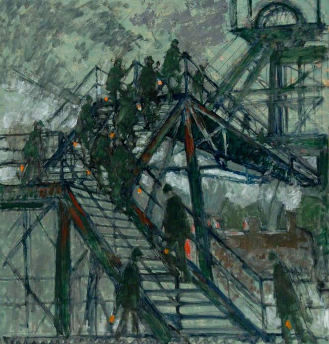 Cornish, Norman Stansfield, 1919-2014; Pit Gantry Steps
