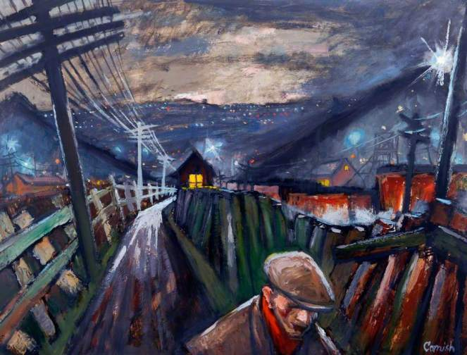 Cornish, Norman Stansfield, 1919-2014; Pit Road at Night*